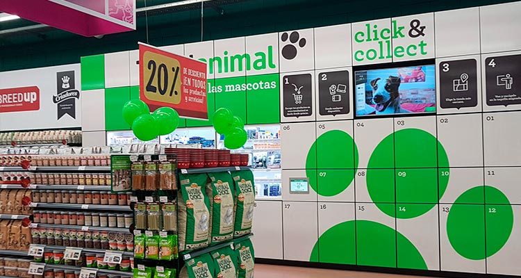 Click & Collect para animales en Madrid - Plaza Rio II